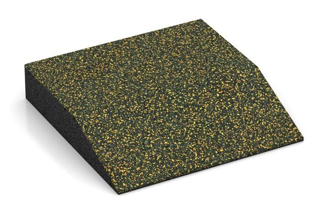Rand-Platte (eine Seite abgeschrägt) von WARCO im Farbdesign Löwenzahn mit den Abmessungen 500 x 500 x 100 mm. Produktfoto von Artikel 3815 in der Aufsicht von schräg vorne.