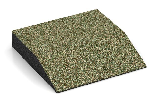 Rand-Platte (eine Seite abgeschrägt) von WARCO im Farbdesign Savanne mit den Abmessungen 500 x 500 x 100 mm. Produktfoto von Artikel 3809 in der Aufsicht von schräg vorne.