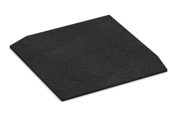 Eck-Platte (zwei Seiten abgeschrägt) von WARCO im Farbdesign anthrazit mit den Abmessungen 500 x 500 x 40 mm. Produktfoto von Artikel 0473 in der Aufsicht von schräg vorne.