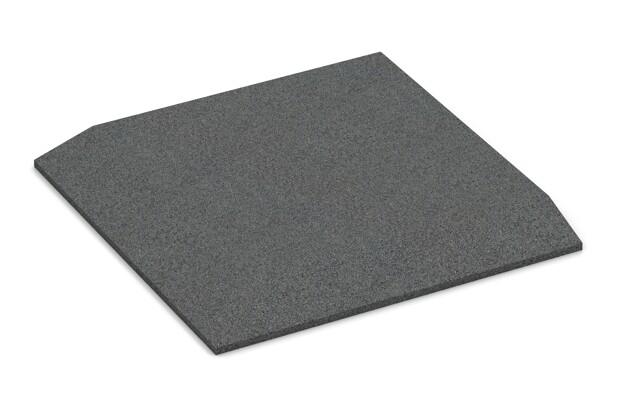 Eck-Platte (zwei Seiten abgeschrägt) von WARCO im Farbdesign schiefergrau mit den Abmessungen 500 x 500 x 40 mm. Produktfoto von Artikel 0472 in der Aufsicht von schräg vorne.