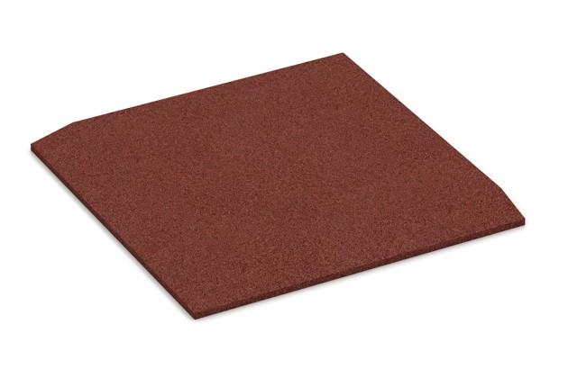 Eck-Platte (zwei Seiten abgeschrägt) von WARCO im Farbdesign ziegelrot mit den Abmessungen 500 x 500 x 30 mm. Produktfoto von Artikel 0462 in der Aufsicht von schräg vorne.
