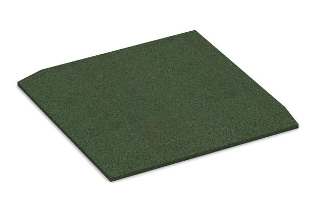 Eck-Platte (zwei Seiten abgeschrägt) von WARCO im Farbdesign grasgrün mit den Abmessungen 500 x 500 x 30 mm. Produktfoto von Artikel 0465 in der Aufsicht von schräg vorne.