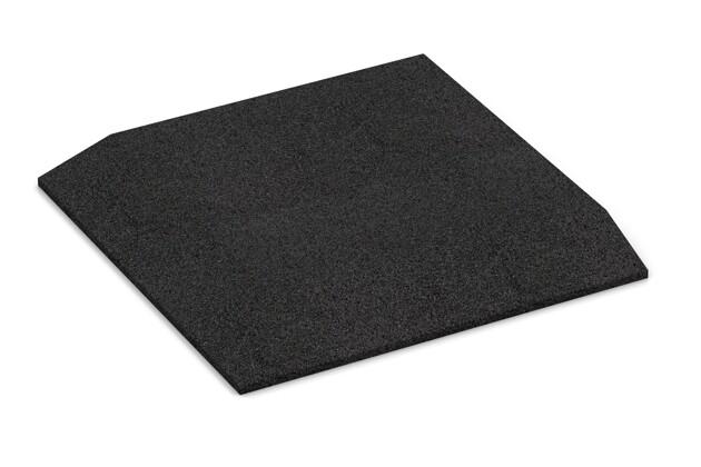 Eck-Platte (zwei Seiten abgeschrägt) von WARCO im Farbdesign anthrazit mit den Abmessungen 500 x 500 x 45 mm. Produktfoto von Artikel 0479 in der Aufsicht von schräg vorne.