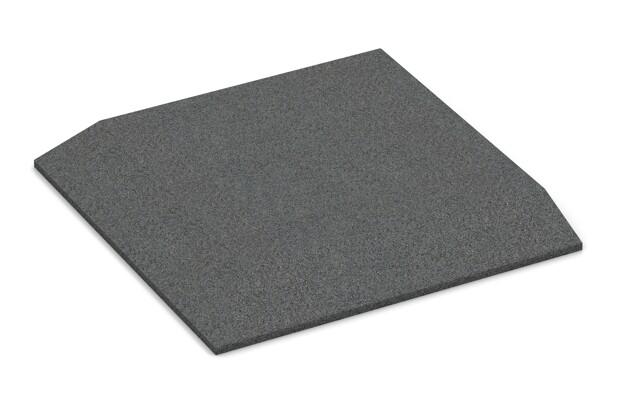 Eck-Platte (zwei Seiten abgeschrägt) von WARCO im Farbdesign schiefergrau mit den Abmessungen 500 x 500 x 45 mm. Produktfoto von Artikel 0478 in der Aufsicht von schräg vorne.
