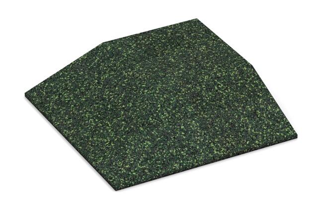 Eck-Platte (zwei Seiten abgeschrägt) von WARCO im Farbdesign Englischer Rasen mit den Abmessungen 500 x 500 x 100 mm. Produktfoto von Artikel 3832 in der Aufsicht von schräg vorne.