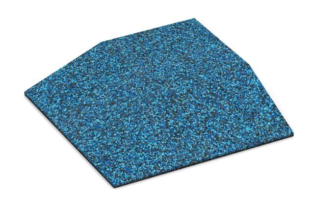Eck-Platte (zwei Seiten abgeschrägt) von WARCO im Farbdesign Atlantik mit den Abmessungen 500 x 500 x 100 mm. Produktfoto von Artikel 3835 in der Aufsicht von schräg vorne.