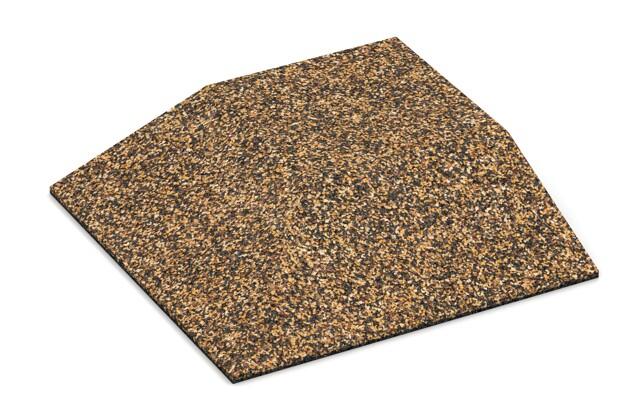 Eck-Platte (zwei Seiten abgeschrägt) von WARCO im Farbdesign Rattan Lounge mit den Abmessungen 500 x 500 x 100 mm. Produktfoto von Artikel 3823 in der Aufsicht von schräg vorne.