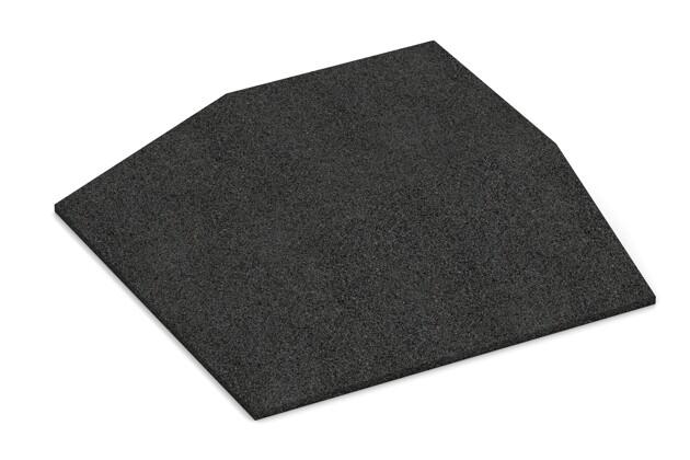 Eck-Platte (zwei Seiten abgeschrägt) von WARCO im Farbdesign anthrazit mit den Abmessungen 500 x 500 x 100 mm. Produktfoto von Artikel 0503 in der Aufsicht von schräg vorne.