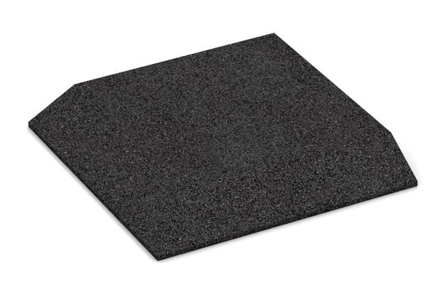 Eck-Platte (zwei Seiten abgeschrägt) von WARCO im Farbdesign anthrazit mit den Abmessungen 500 x 500 x 65 mm. Produktfoto von Artikel 0491 in der Aufsicht von schräg vorne.