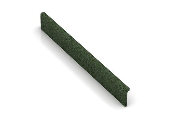 Wandschutz Sockelleiste von WARCO im Farbdesign grasgrün mit den Abmessungen 750 x 80 x 20 mm. Produktfoto von Artikel 2265 in der Aufsicht von schräg vorne.