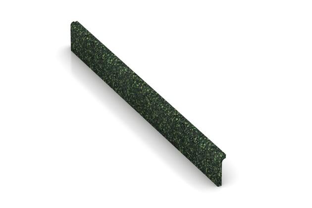 Wandschutz Sockelleiste von WARCO im Farbdesign Englischer Rasen mit den Abmessungen 750 x 80 x 20 mm. Produktfoto von Artikel 2259 in der Aufsicht von schräg vorne.