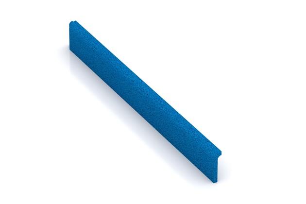 Wandschutz Sockelleiste von WARCO im Farbdesign Himmelblau mit den Abmessungen 750 x 80 x 20 mm. Produktfoto von Artikel 4290 in der Aufsicht von schräg vorne.