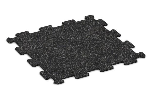 Fitnessmatte von WARCO im Farbdesign Leicht Grau Gesprenkelt mit den Abmessungen 478 x 478 x 8 mm. Produktfoto von Artikel 0920 in der Aufsicht von schräg vorne.