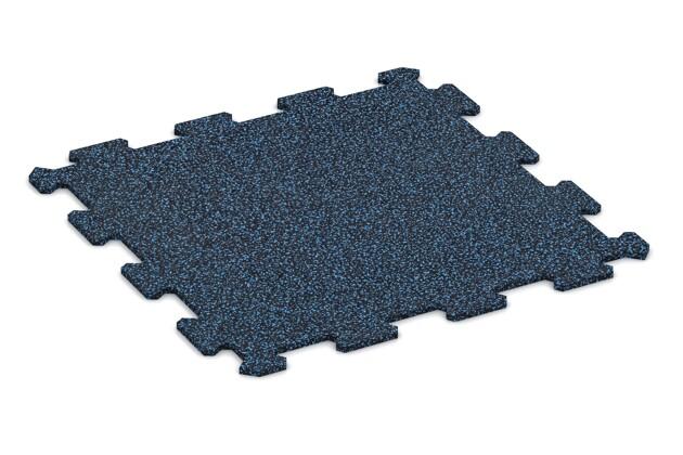 Fitnessmatte von WARCO im Farbdesign Blau Gesprenkelt mit den Abmessungen 478 x 478 x 8 mm. Produktfoto von Artikel 0916 in der Aufsicht von schräg vorne.
