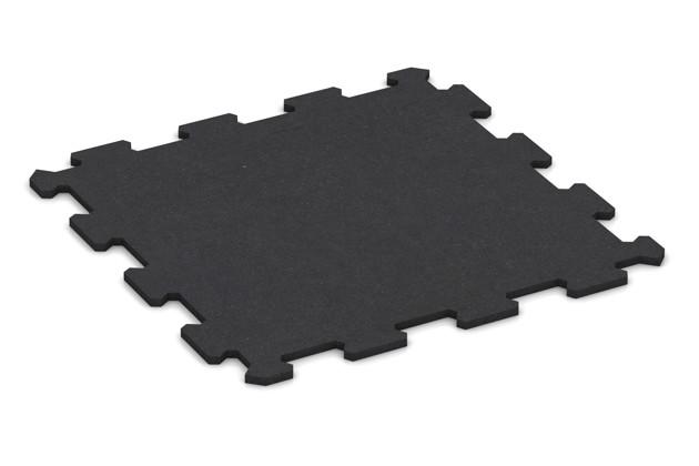 Fitnessmatte von WARCO im Farbdesign anthrazit matt mit den Abmessungen 478 x 478 x 10 mm. Produktfoto von Artikel 0943 in der Aufsicht von schräg vorne.