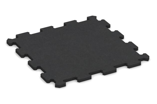 Fitnessmatte von WARCO im Farbdesign anthrazit matt mit den Abmessungen 478 x 478 x 16 mm. Produktfoto von Artikel 1003 in der Aufsicht von schräg vorne.