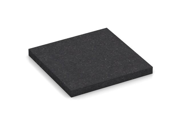 Materialmuster von WARCO im Farbdesign anthrazit matt mit den Abmessungen 100 x 100 x 10 mm. Produktfoto von Artikel 0865 in der Aufsicht von schräg vorne.