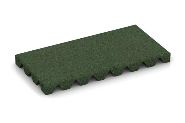 halbe Platte von WARCO im Farbdesign grasgrün mit den Abmessungen 500 x 250 x 40 mm. Produktfoto von Artikel 0387 in der Aufsicht von schräg vorne.