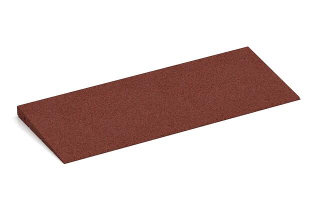 Anti-Stolper-Keil von WARCO im Farbdesign ziegelrot mit den Abmessungen 750 x 300 x 35/8 mm. Produktfoto von Artikel 2377 in der Aufsicht von schräg vorne.