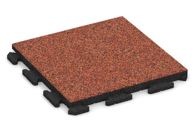 Gehwegplatte von WARCO im Farbdesign Feuersglut mit den Abmessungen 500 x 500 x 40 mm. Produktfoto von Artikel 1303 in der Aufsicht von schräg vorne.