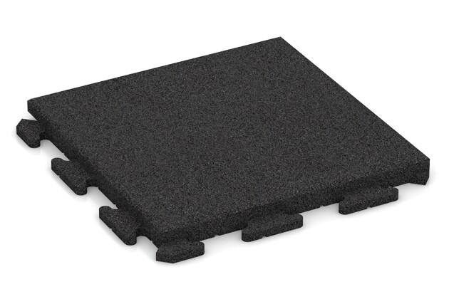 Fitness-Boden von WARCO im Farbdesign anthrazit mit den Abmessungen 500 x 500 x 40 mm. Produktfoto von Artikel 1404 in der Aufsicht von schräg vorne.