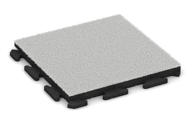 Kunstgras-Fitnessplatte von WARCO im Farbdesign Kunstgras weiß mit den Abmessungen 500 x 500 x 40 mm. Produktfoto von Artikel 1376 in der Aufsicht von schräg vorne.