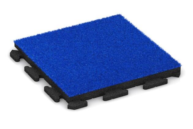 Kunstgras-Fitnessplatte von WARCO im Farbdesign Kunstgras blau mit den Abmessungen 500 x 500 x 40 mm. Produktfoto von Artikel 1378 in der Aufsicht von schräg vorne.