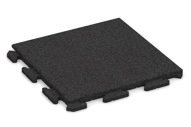 Fitness-Boden von WARCO im Farbdesign anthrazit mit den Abmessungen 500 x 500 x 30 mm. Produktfoto von Artikel 1277 in der Aufsicht von schräg vorne.