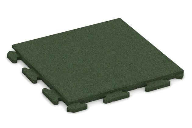 Fitness-Boden von WARCO im Farbdesign grasgrün mit den Abmessungen 500 x 500 x 30 mm. Produktfoto von Artikel 1279 in der Aufsicht von schräg vorne.