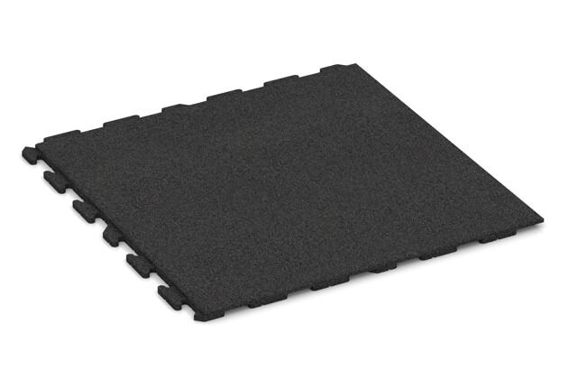 Spiel-Bodenbelag von WARCO im Farbdesign anthrazit mit den Abmessungen 1000 x 1000 x 30 mm. Produktfoto von Artikel 1618 in der Aufsicht von schräg vorne.