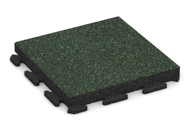 Fitness-Boden von WARCO im Farbdesign Englischer Rasen mit den Abmessungen 500 x 500 x 60 mm. Produktfoto von Artikel 1527 in der Aufsicht von schräg vorne.