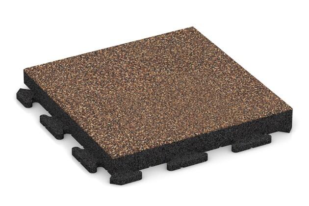 Fitness-Boden von WARCO im Farbdesign Bast & Borke mit den Abmessungen 500 x 500 x 60 mm. Produktfoto von Artikel 1529 in der Aufsicht von schräg vorne.