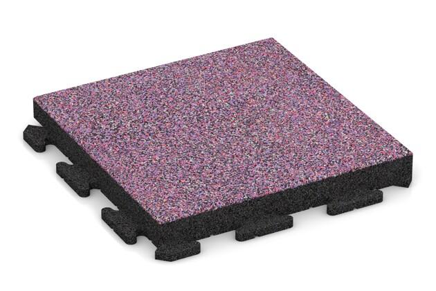 Fitness-Boden von WARCO im Farbdesign Lavendel mit den Abmessungen 500 x 500 x 60 mm. Produktfoto von Artikel 1531 in der Aufsicht von schräg vorne.