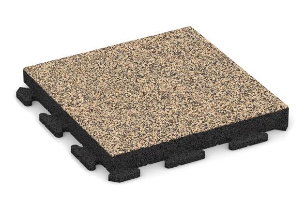 Fitness-Boden von WARCO im Farbdesign Travertin mit den Abmessungen 500 x 500 x 60 mm. Produktfoto von Artikel 1532 in der Aufsicht von schräg vorne.