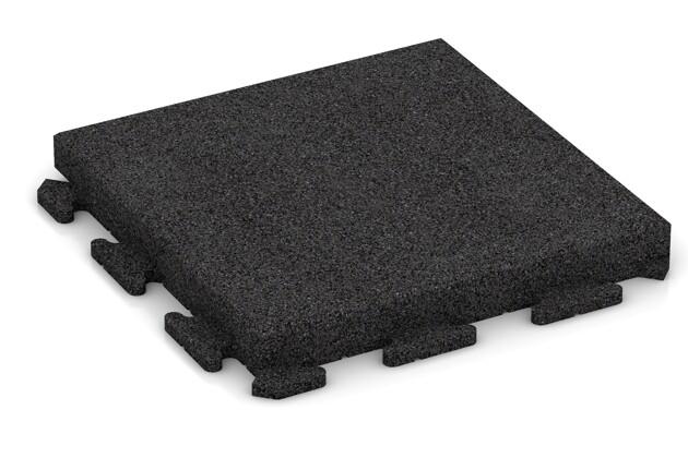 Fitness-Boden von WARCO im Farbdesign anthrazit mit den Abmessungen 500 x 500 x 60 mm. Produktfoto von Artikel 1550 in der Aufsicht von schräg vorne.