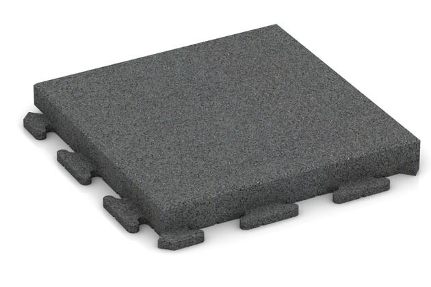 Fitness-Boden von WARCO im Farbdesign schiefergrau mit den Abmessungen 500 x 500 x 60 mm. Produktfoto von Artikel 1553 in der Aufsicht von schräg vorne.