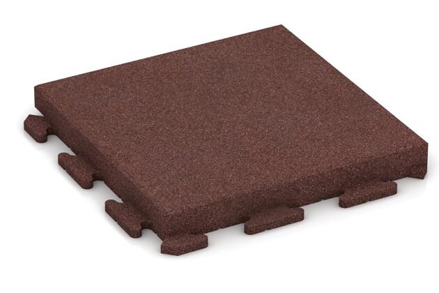 Fitness-Boden von WARCO im Farbdesign schokobraun mit den Abmessungen 500 x 500 x 60 mm. Produktfoto von Artikel 1554 in der Aufsicht von schräg vorne.