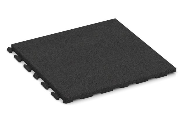 Fitness-Boden von WARCO im Farbdesign anthrazit mit den Abmessungen 1000 x 1000 x 50 mm. Produktfoto von Artikel 1770 in der Aufsicht von schräg vorne.