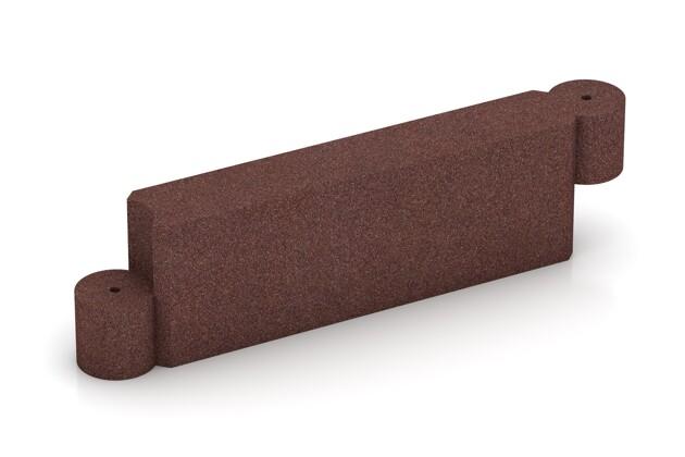 Randstein Kettenelement von WARCO im Farbdesign schokobraun mit den Abmessungen 1000 x 300 x 154 mm. Produktfoto von Artikel 2574 in der Aufsicht von schräg vorne.