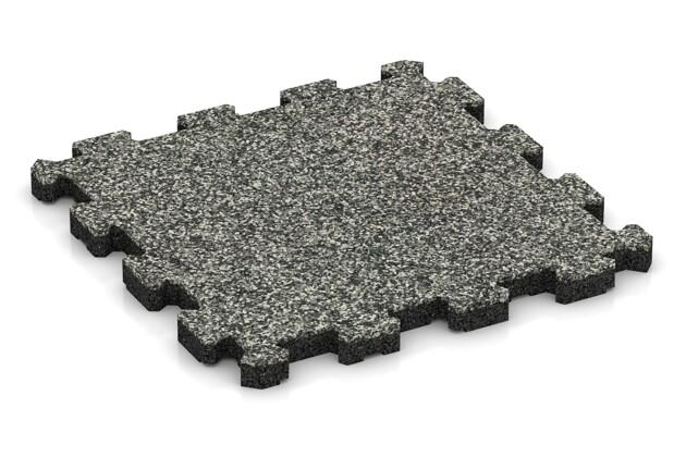 Fitnessmatte von WARCO im Farbdesign Grauer Granit mit den Abmessungen 306 x 306 x 20 mm. Produktfoto von Artikel 3721 in der Aufsicht von schräg vorne.
