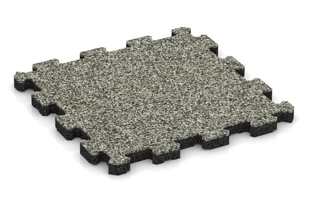 Fitnessmatte von WARCO im Farbdesign Heller Granit mit den Abmessungen 306 x 306 x 20 mm. Produktfoto von Artikel 3720 in der Aufsicht von schräg vorne.