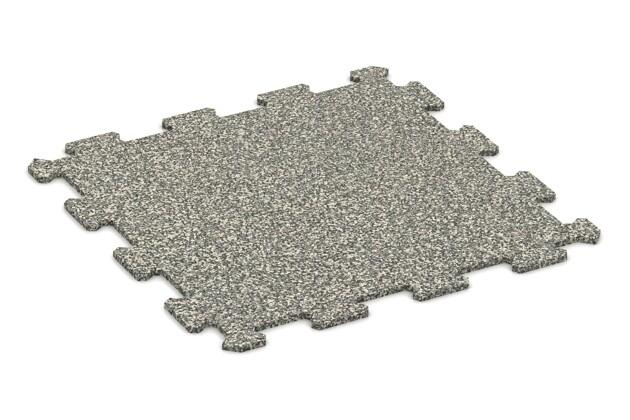Fitnessmatte von WARCO im Farbdesign Heller Granit mit den Abmessungen 485 x 485 x 8 mm. Produktfoto von Artikel 0884 in der Aufsicht von schräg vorne.